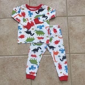Carter's Boys Dinosaur Shirt & Pants Pajamas Set